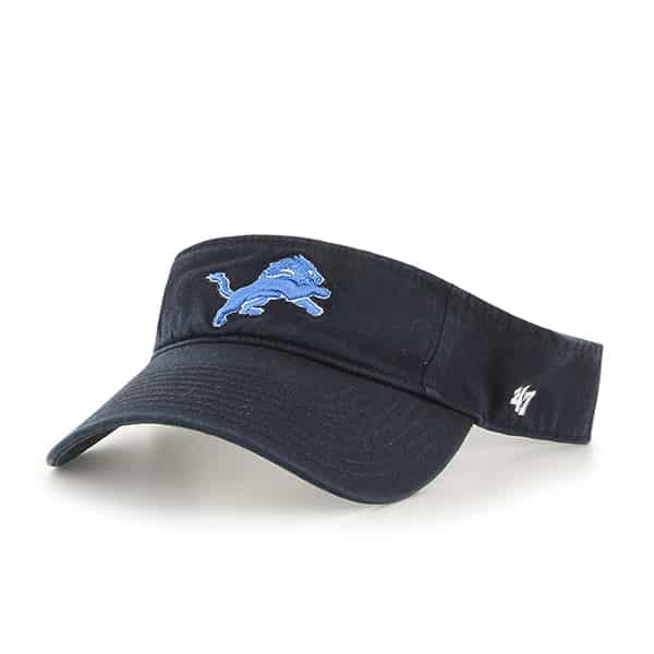 Detroit Lions Clean Up Visor Black 47 Brand Adjustable Hat