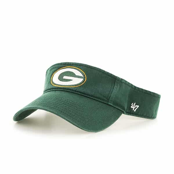 Green Bay Packers Clean Up Visor Dark Green 47 Brand Adjustable Hat
