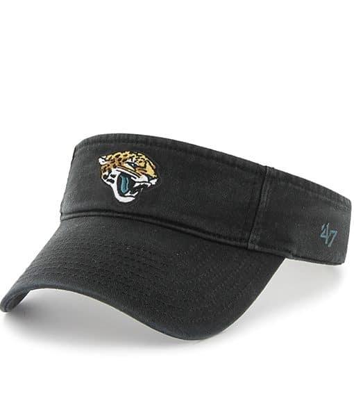 Jacksonville Jaguars Clean Up Visor Black 47 Brand Adjustable Hat