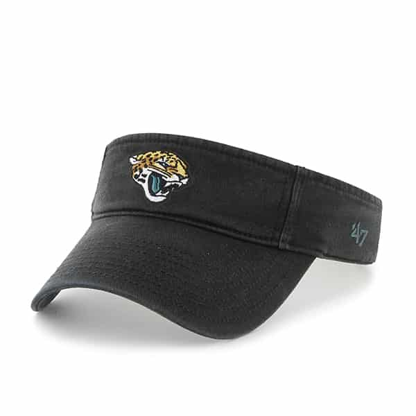 Jacksonville Jaguars Clean Up Visor Black 47 Brand Adjustable Hat