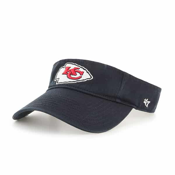 Kansas City Chiefs Clean Up Visor Black 47 Brand Adjustable Hat