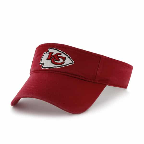 Kansas City Chiefs Clean Up Visor Red 47 Brand Adjustable Hat