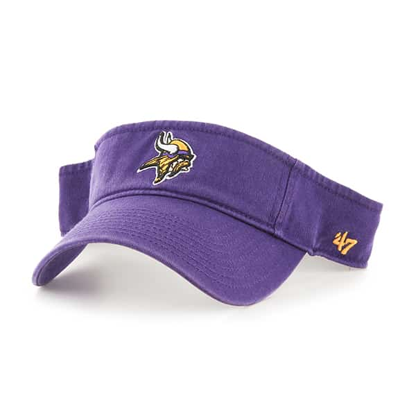 Minnesota Vikings Clean Up Visor Purple 47 Brand Adjustable Hat