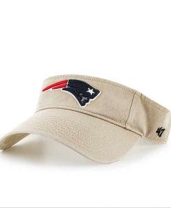 New England Patriots Clean Up Visor Khaki 47 Brand Adjustable Hat