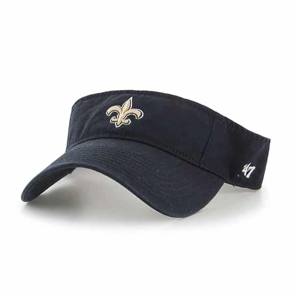 New Orleans Saints Clean Up Visor Black 47 Brand Adjustable Hat