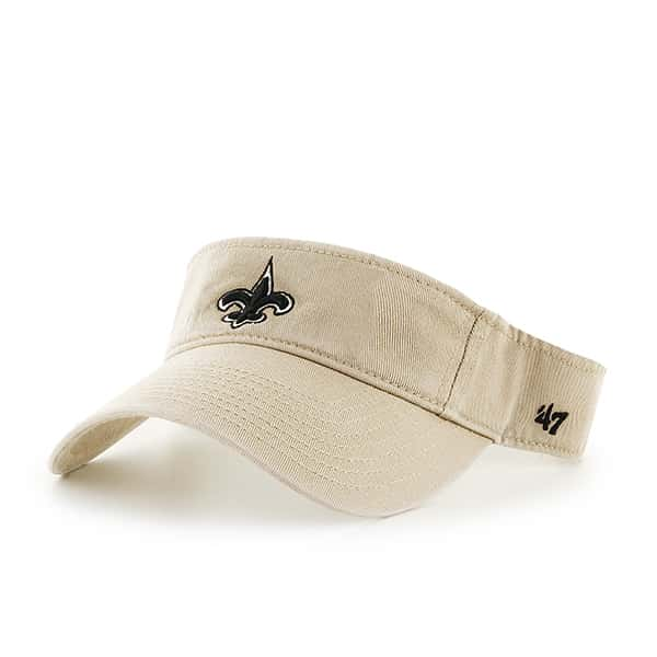 New Orleans Saints Clean Up Visor Khaki 47 Brand Adjustable Hat