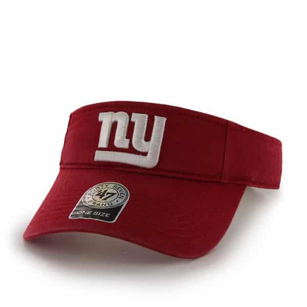 New York Giants Clean Up Visor Red 47 Brand Adjustable Hat