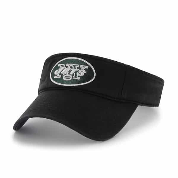 New York Jets Clean Up Visor Black 47 Brand Adjustable Hat