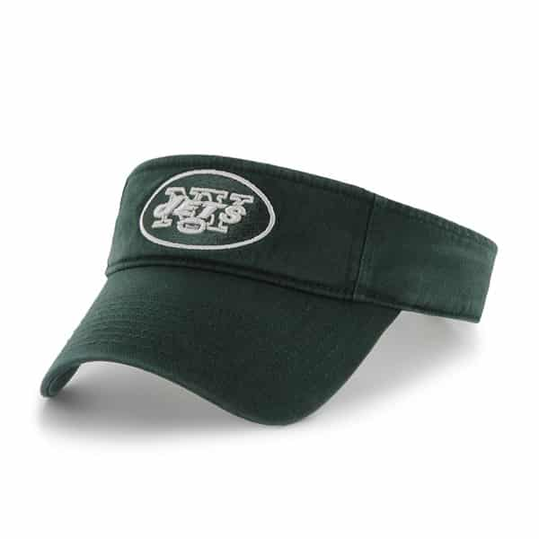 New York Jets Clean Up Visor Dark Green 47 Brand Adjustable Hat