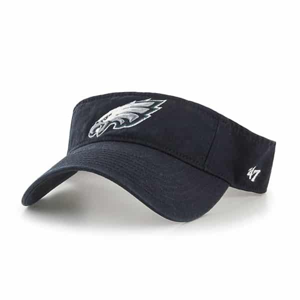 5ab723d2b64 Philadelphia Eagles Clean Up Visor Black 47 Brand Adjustable Hat - Detroit  Game Gear
