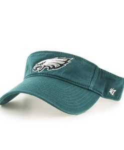 Philadelphia Eagles Clean Up Visor Pacific Green 47 Brand Adjustable Hat