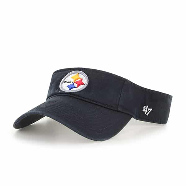 Pittsburgh Steelers Clean Up Visor Black 47 Brand Adjustable Hat