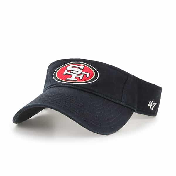 San Francisco 49Ers Clean Up Visor Black 47 Brand Adjustable Hat