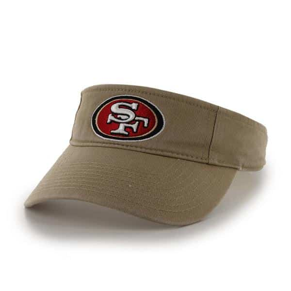 San Francisco 49Ers Clean Up Visor Khaki 47 Brand Adjustable Hat