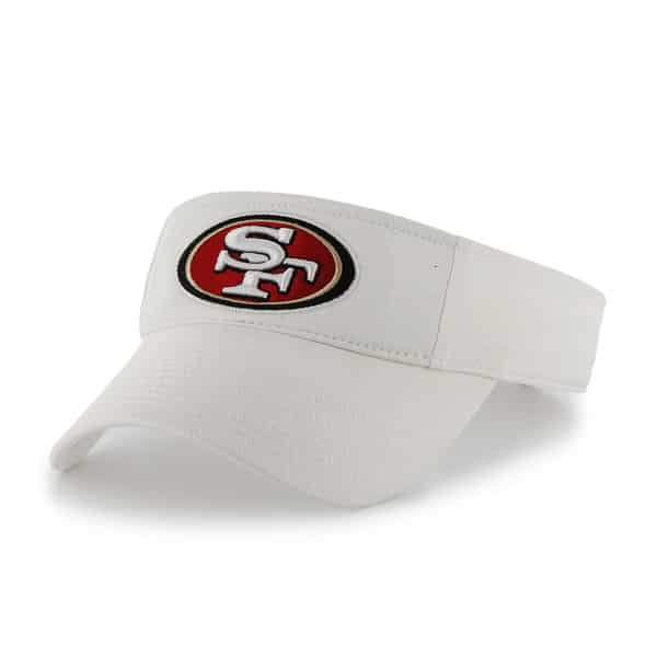 San Francisco 49Ers Clean Up Visor White 47 Brand Adjustable Hat