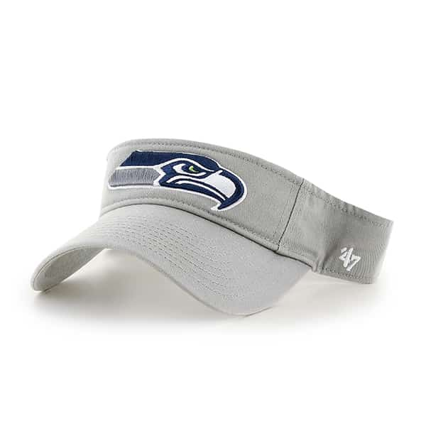 Seattle Seahawks Clean Up Visor Gray 47 Brand Adjustable Hat
