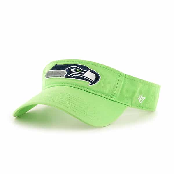 Seattle Seahawks Clean Up Visor Lime 47 Brand Adjustable Hat