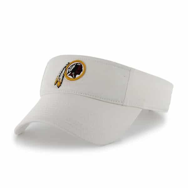 Washington Redskins Clean Up Visor White 47 Brand Adjustable Hat