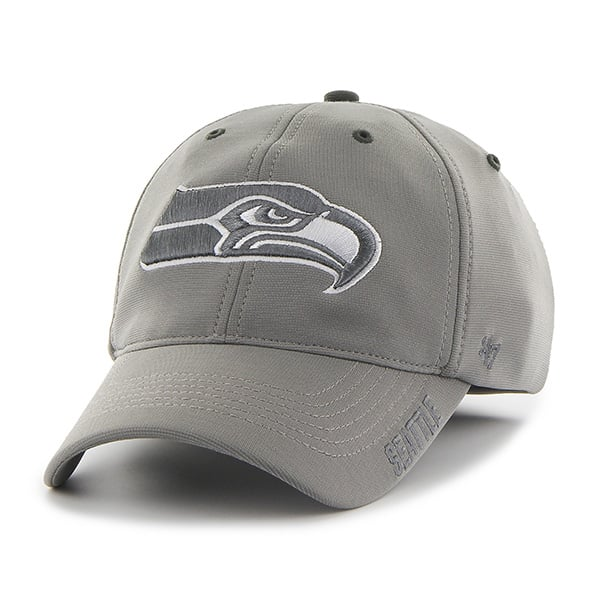 Seattle Seahawks Ronin Closer Dark Gray 47 Brand Stretch Fit Hat