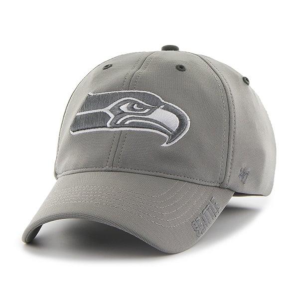 Seattle Seahawks Ronin Closer Dark Gray 47 Brand Stretch Fit Hat