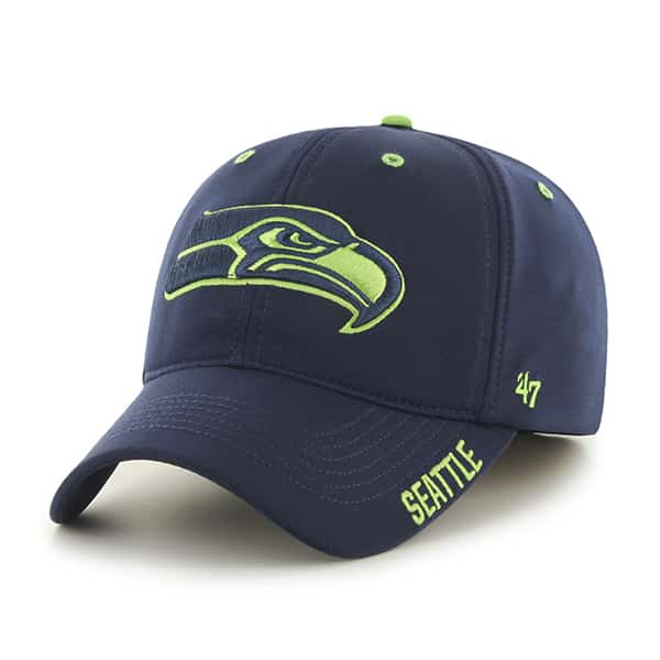 Seattle Seahawks Ronin Closer Light Navy 47 Brand Stretch Fit Hat