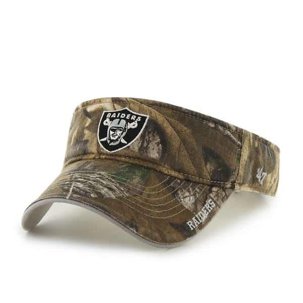 Oakland Raiders Realtree Ice Visor Realtree 47 Brand Adjustable Hat