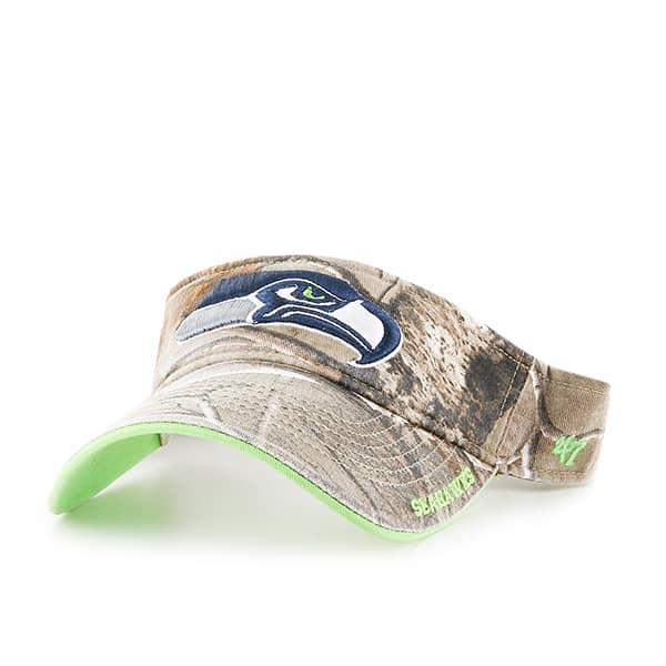 Seattle Seahawks Realtree Ice Visor Realtree 47 Brand Adjustable Hat