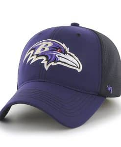 Baltimore Ravens Reversal Team Color Closer Purple 47 Brand Stretch Fit Hat