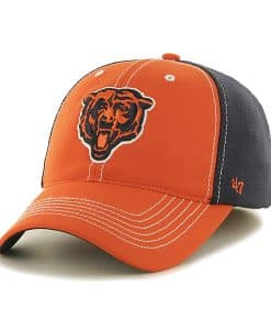 Chicago Bears Reversal Team Color Closer Orange 47 Brand Stretch Fit Hat