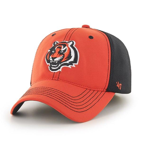Cincinnati Bengals Reversal Team Color Closer Orange 47 Brand Stretch Fit Hat