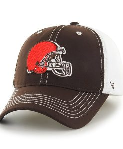 Cleveland Browns Reversal Team Color Closer Brown 47 Brand Stretch Fit Hat