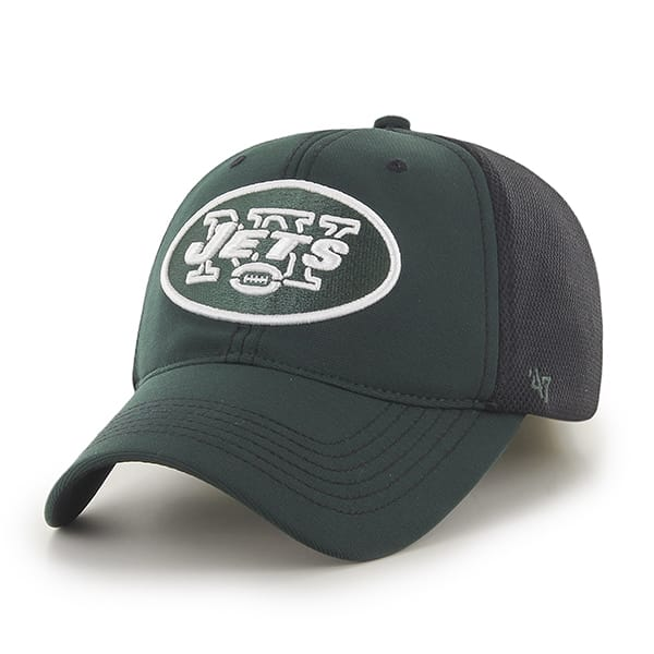New York Jets Reversal Team Color Closer Dark Green 47 Brand Stretch Fit Hat