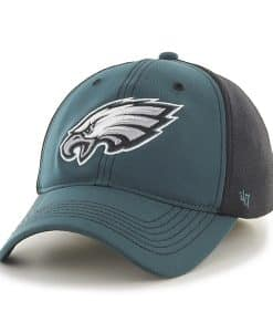 Philadelphia Eagles Reversal Team Color Closer Pacific Green 47 Brand Stretch Fit Hat