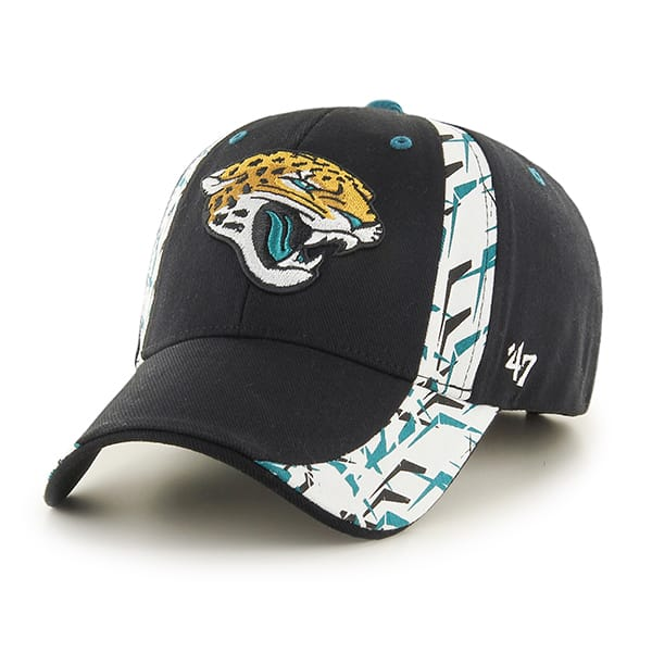 Jacksonville Jaguars Side Cut MVP Black 47 Brand Adjustable Hat