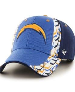 San Diego Chargers Side Cut MVP Blue Raz 47 Brand Adjustable Hat