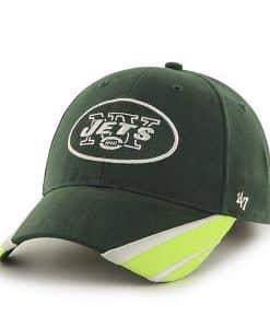 New York Jets Sharptooth MVP Dark Green 47 Brand YOUTH Hat