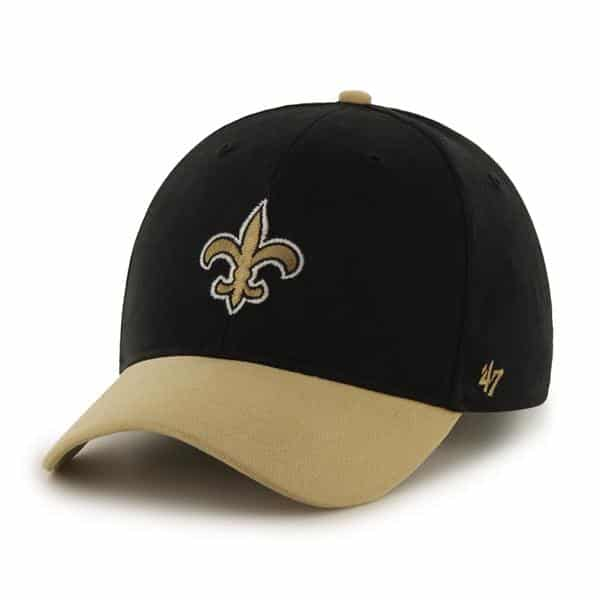 New Orleans Saints Short Stack MVP Black 47 Brand YOUTH Hat