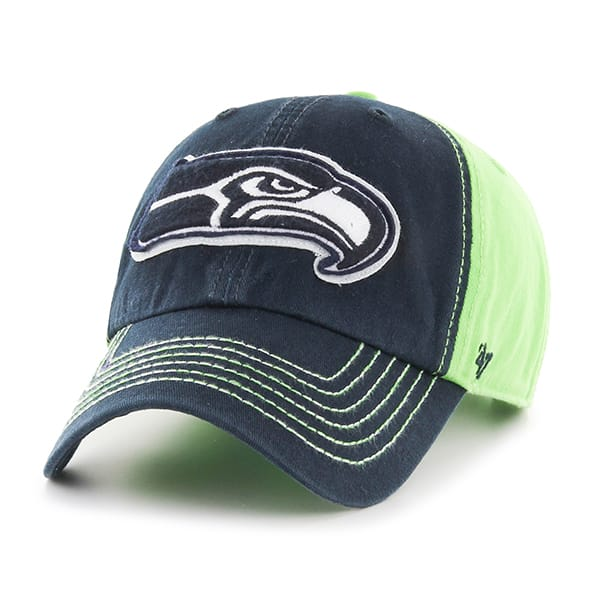 Seattle Seahawks Slot Back Clean Up Lime 47 Brand Adjustable Hat