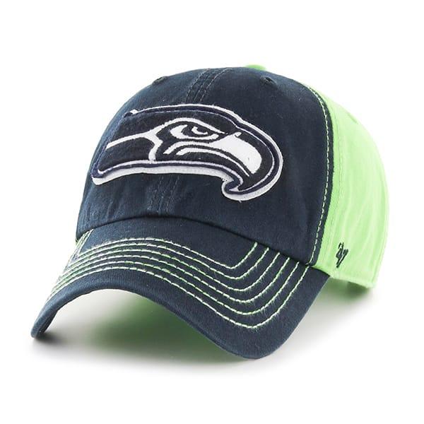 Seattle Seahawks Slot Back Clean Up Lime 47 Brand Adjustable Hat