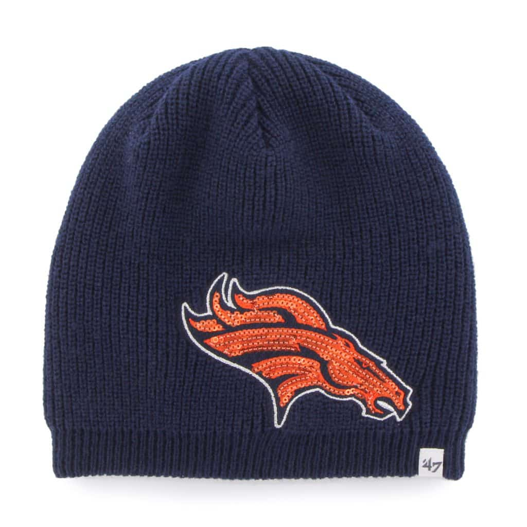 Denver Broncos Sparkle Beanie Light Navy 47 Brand Womens Hat