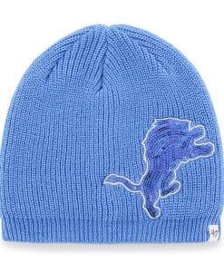 Detroit Lions Sparkle Beanie Blue Raz 47 Brand Womens Hat