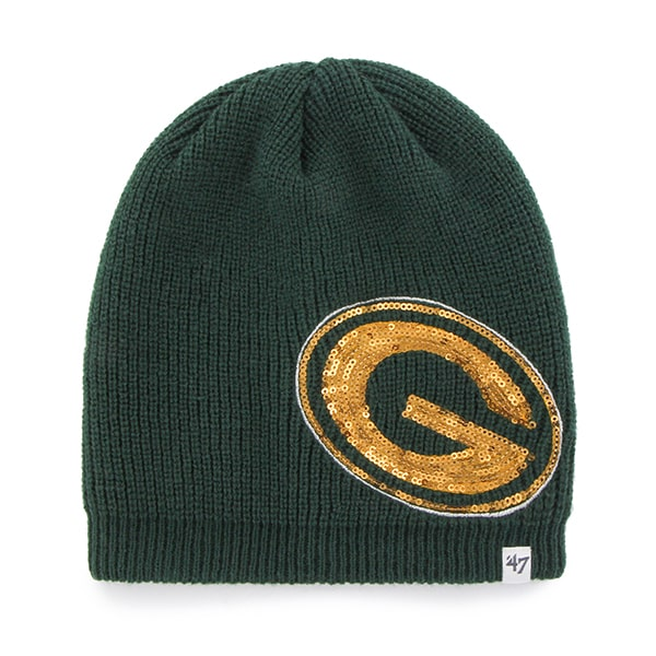 Green Bay Packers Sparkle Beanie Dark Green 47 Brand Womens Hat