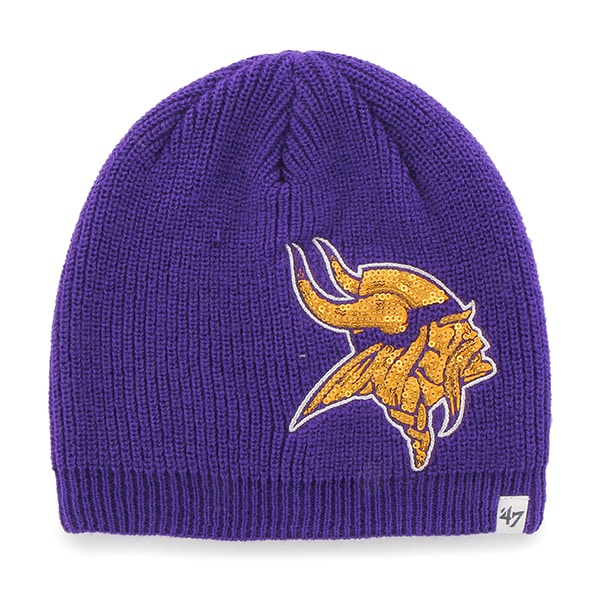 Minnesota Vikings Sparkle Beanie Purple 47 Brand Womens Hat