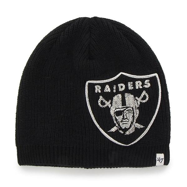 Oakland Raiders Sparkle Beanie Black 47 Brand Womens Hat