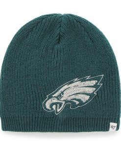 Philadelphia Eagles Sparkle Beanie Pacific Green 47 Brand Womens Hat