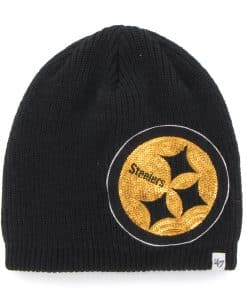 Pittsburgh Steelers Sparkle Beanie Black 47 Brand Womens Hat