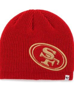 San Francisco 49ers Sparkle Beanie Red 47 Brand Womens Hat