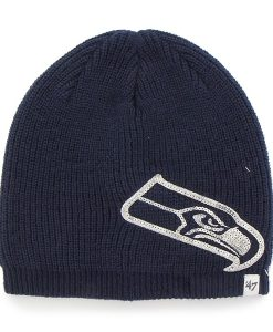 Seattle Seahawks Sparkle Beanie Light Navy 47 Brand Womens Hat