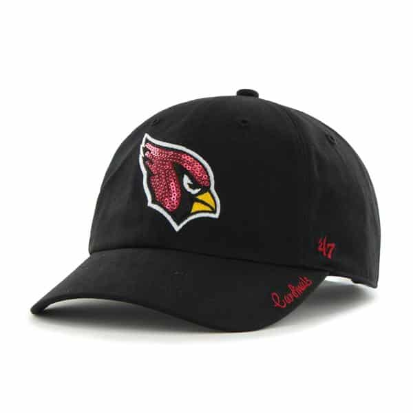 Arizona Cardinals Sparkle Team Color Clean Up Black 47 Brand Womens Hat