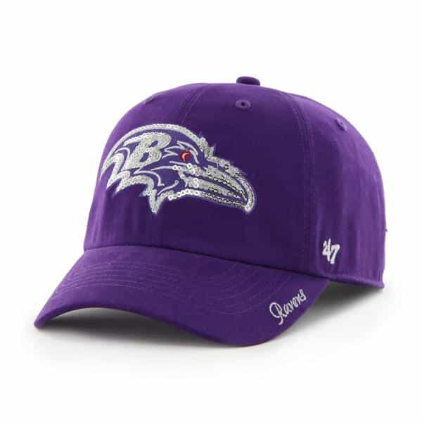 Baltimore Ravens Sparkle Team Color Clean Up Purple 47 Brand Womens Hat